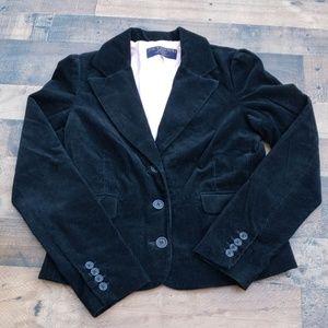 Juicy Couture Jeans Black Corduroy Blazer Sz L